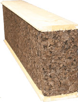 Деревянный блок с пробковой изоляцией