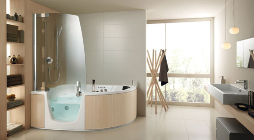 Удобная ванна может быть укомплектована системой Hydrosilence