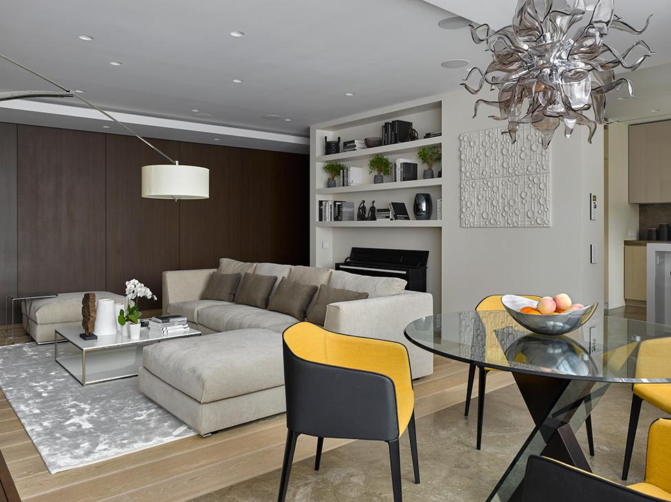 Интерьер кухни-гостиной 2017-2018 современные идеи 16 кв м