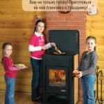 Печь-камин Бавария с плитой (арт ПКП 007)