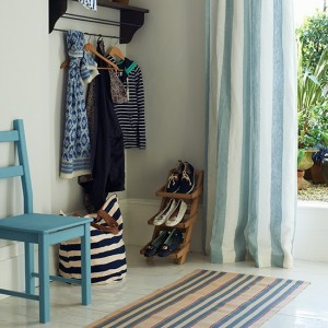 Blue-striped-runner-and-curtain-in-white-painted-hallway--Country-Homes-and-Interiors--Housetohome.co.uk