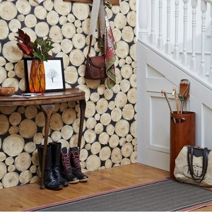 Hallway-with-log-wallpaper-console-table-and-runner--Country-Homes-and-Interiors--Housetohome.co.uk